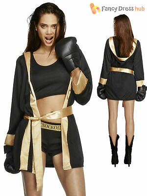 £31.50 • Buy Ladies Fever Knockout Boxing Fancy Dress Costume Womens Boxer Fighter Outfit
