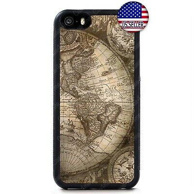 £7.95 • Buy Vintage Old World Map Rubber Case Cover For IPhone 11 Pro Max Xs XR 8 Plus 7