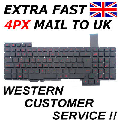 AU75.98 • Buy NEW UK Keyboard For ASUS ROG G751 G751J G751JL G751JT G751JY GFX71JT For Backlit