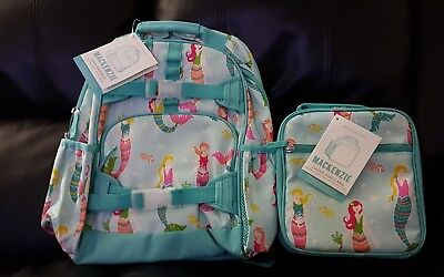 f6182af6a8ee Pottery Barn Kids Aqua Mermaid Large Backpack And Lunchbox Set New With  Tags!