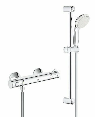 GROHE 34565001 Thermostatic 800 Shower Mixer Includes Valve, Hose Handset, Rail • 121£