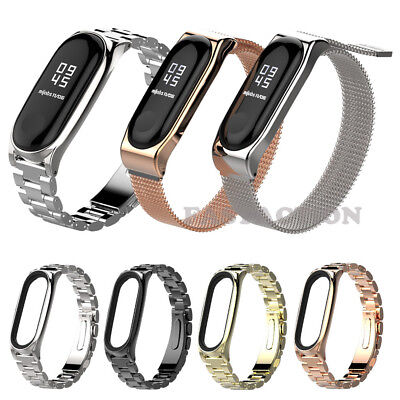 $8.50 • Buy For Xiaomi Mi Band 3 4 Stainless Steel Watch Band Milanese Strap Metal Wristband