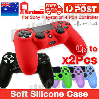 AU6.69 • Buy 2x Silicone Cover Skin Protector Grip Case For Sony Playstation 4 PS4 Controller