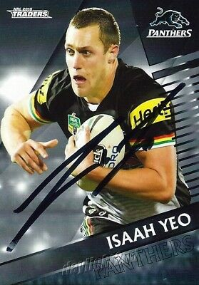 AU6.99 • Buy ✺Signed✺ 2018 PENRITH PANTHERS NRL Card ISAAH YEO