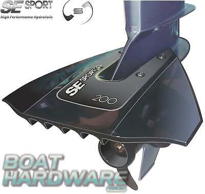 AU143.10 • Buy HydroFoil SE Sport 200 Black Turbo Outboard Boat Motor Smooth Stabiliser 8-40HP