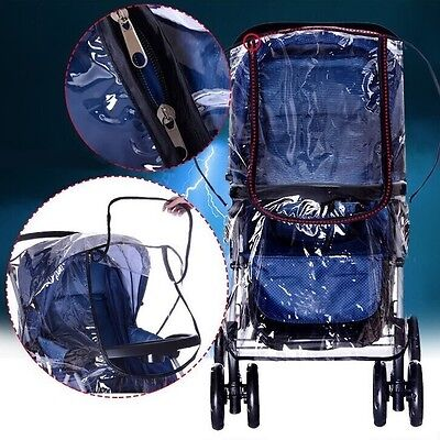 Larger Rain Cover Universal Hauck Shopper Sport Buggy Pushchair Raincover Clear • 9.99£