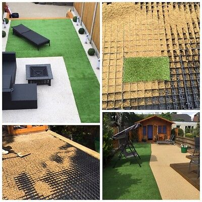 RESIN GRID TRAYS PLASTIC REINFORCEMENT PATHWAY & ECO PARKING SUPPORT GRIDS (nw) • 9.25£