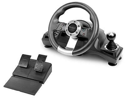 Xbox One Steering Wheel And Pedal Set Racing Gaming Simulator Driving PC Real UK • 166.79$