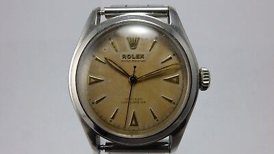$ CDN5746.09 • Buy ROLEX VINTAGE 1950s STAINLESS STEEL OYSTER PERPETUAL 6106 BUBBLEBACK CHRONOMETRE