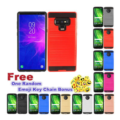 $ CDN9.12 • Buy Slim Brushed Metal Hybrid Rubber Case  Phone Cover For Samsung Galaxy Note 9