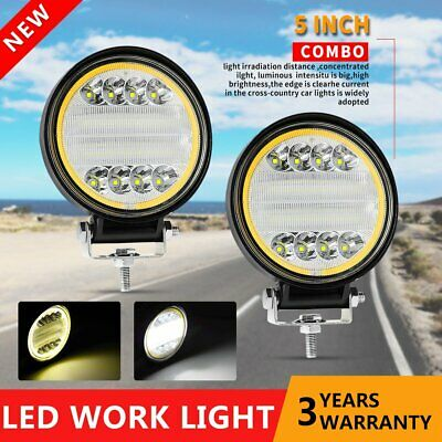 AU38.99 • Buy 2x 5 Inch 144W LED Round Work Lights Spot Flood Offroad Driving Fog Lamp ATV SUV