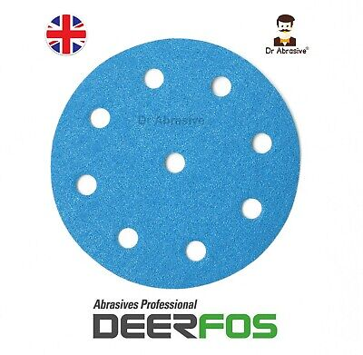 125mm Wet And Dry Sanding Discs For FESTOOL Rotex Pads Film Sandpaper /8+1 Hole/ • 9.60£