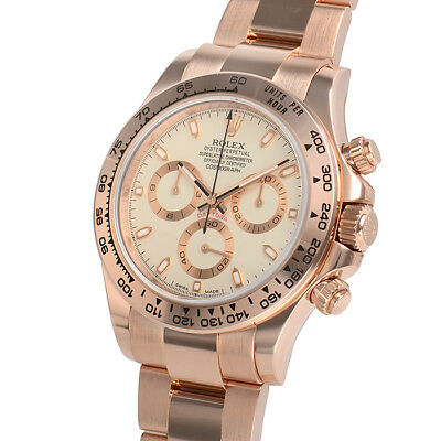 $ CDN55331.46 • Buy Rolex Cosmograph Daytona 116505 Everose Gold Ivory Dial Watch 40mm Oyster Watch