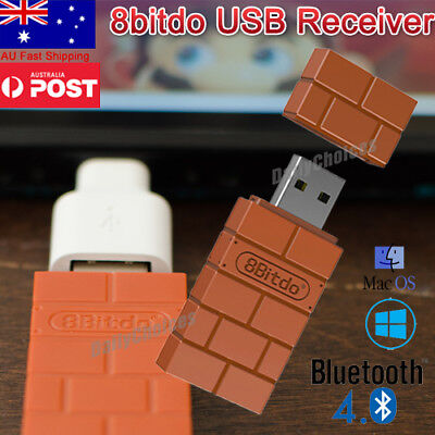 AU24.79 • Buy Portable 8Bitdo Wireless Bluetooth Receiver USB Adapter For Nintendo Switch PS4