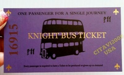 $6 • Buy New! Harry Potter Knight Bus Ticket Souvenir Poster. Usa Seller.