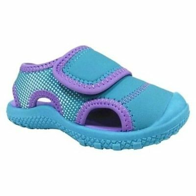 $9.99 • Buy Cat & Jack Toddler Girls Turquoise/Purple Water Shoes Fisherman Sandals - NWT