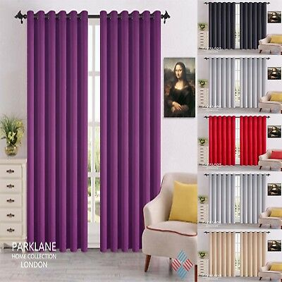 Thermal Blackout Curtains Ready Made Eyelet Ring Top Or Pencil Pleat + Tie Backs • 20£