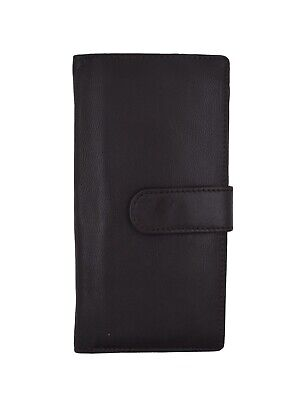 $8.49 • Buy Genuine Leather PLAIN Checkbook Cover Brown With Snap Closure NEW!!!