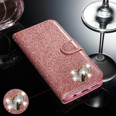 $ CDN9.36 • Buy For Samsung Galaxy Note 9 Bling Glitter Sparkly Leather Flip Wallet Case Cover
