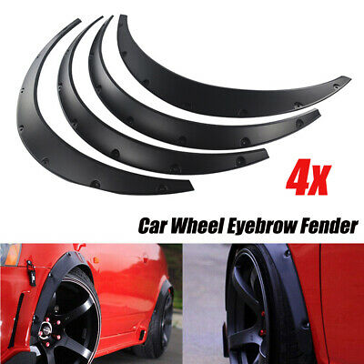 $33.58 • Buy 4X Universal SUV Car Body Fender Flares Flexible Durable Polyurethane Kit Black