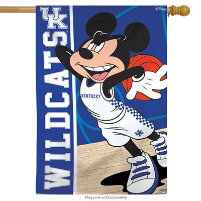 $27.99 • Buy University Of Kentucky Wildcats NCAA Mickey Mouse House Flag Licensed 28  X 40