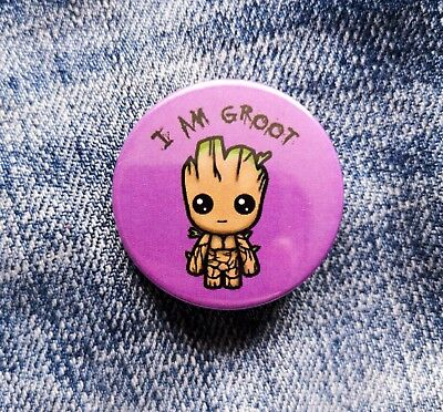 Baby Groot Pin Badge - 38mm - Guardians Of The Galaxy I Am Groot Marvel Disney • 1.25£