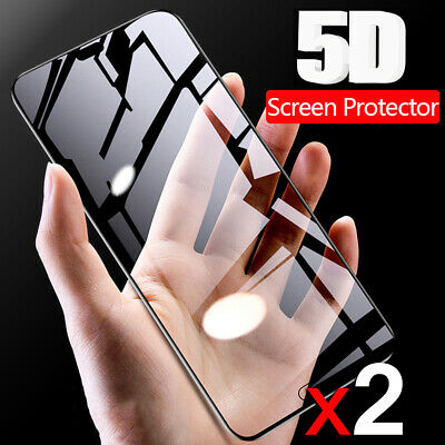 AU7.75 • Buy 2x 5D Curved Full Tempered Glass Film Screen Protector For OnePlus 6 5 3T 3