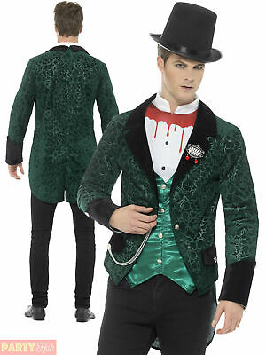 Mens Victorian Vampire Costume Adult Horror Dracula Fancy Dress Outfit Halloween • 15.95£