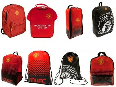 Manchester United Rucksack Backpack Gymbag Bootbag Junior School Bag Official  • 9.99£