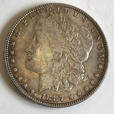 U.S.A. United States Of America 1887 Silver $1 One Dollar Liberty Coin • 149£