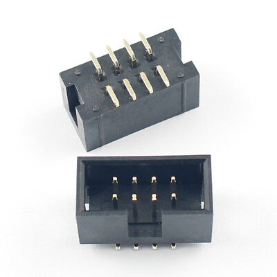 $2.99 • Buy 10Pcs 2.54mm 2x4 Pin 8 Pin SMT SMD Male Shrouded Box Header PCB IDC Connector