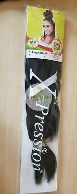XPression Pre-Pulled Pre-Stretched Hair Braid Twist Extension Col 1 - Black • 3.99£