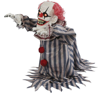 $ CDN99.29 • Buy Halloween Animated Jumping Lunging Clown  Prop Decoration Haunted House