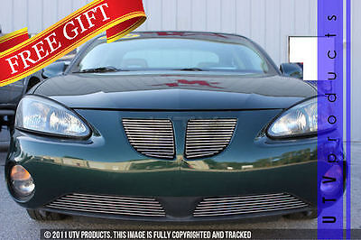 $239 • Buy GTG 2004 - 2008 Pontiac Grand Prix 4PC Polished Combo Billet Grille Grill Kit