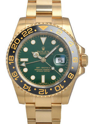 $ CDN50790.80 • Buy Rolex GMT-Master II 116718 Yellow Gold Green Dial 40mm Oyster Mens Watch