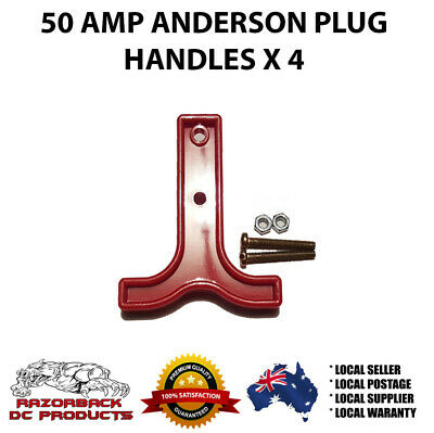 AU7.50 • Buy T HANDLE X 4 - RED ANDERSON PLUG CONNECTOR 50 AMP DUAL BATT 50a Fast Postage