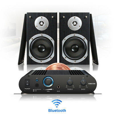 Bluetooth Home HiFi Stereo Sound Speaker And Amplifier Wireless Music System • 135£