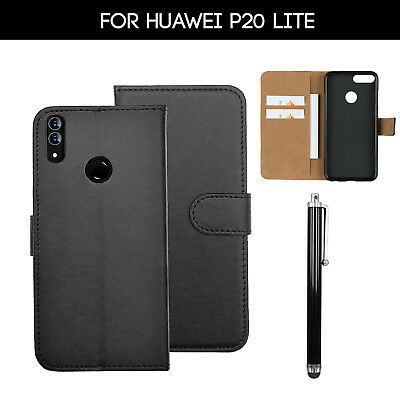 For Huawei P20 Lite Phone Case Luxury Leather Magnetic Flip Wallet Stand Cover • 3.99£