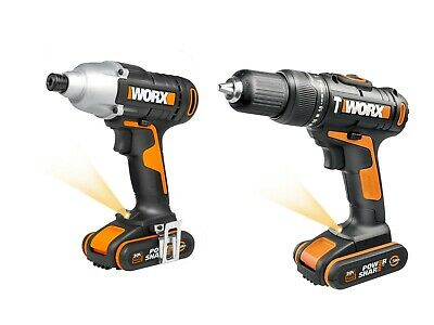 View Details WORX WX938 18V (20V MAX) Cordless Impact Driver And Hammer Drill Twin Pack • 99.99£
