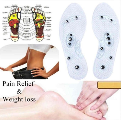 $ CDN5.31 • Buy Gel Shoe Insoles Magnetic Massage Foot Health Care Pain Therapy Magnetic Insoles