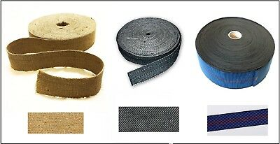 £2.95 • Buy Seat Upholstery Craft Elasticated & Hessian & Jute Strapping 3 Types Of Webbing