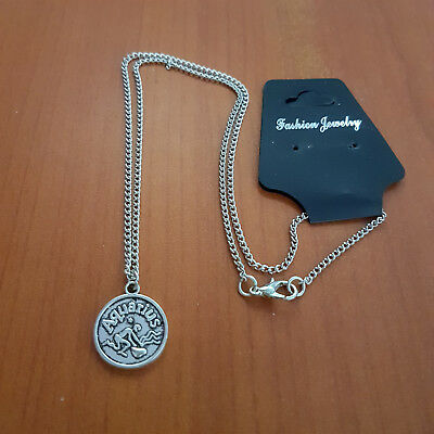 Horoscope Pendant Silver Necklace  Astrology Star Signs Gift • 3.49£