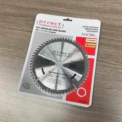 AU15.90 • Buy 185mm - 60T Teeth - TCT Circular Saw Blades Wood Suit Milwaukee Irwin 7-1/4