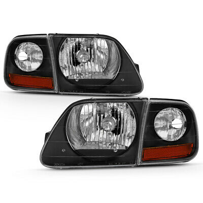 $67.42 • Buy 97-03 Ford F150 Expedition Lightning Style Black Headlight Corner Signal Lamp