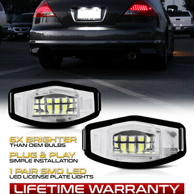 $11.99 • Buy For Honda Accord Civic Acura TSX TL ILX COMPLETE HOUSING LED License Plate Light
