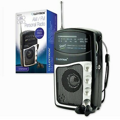 PORTABLE RADIO With AM FM WAVEBAND | Battery Operated Stereo Speaker Earphones • 9.99£