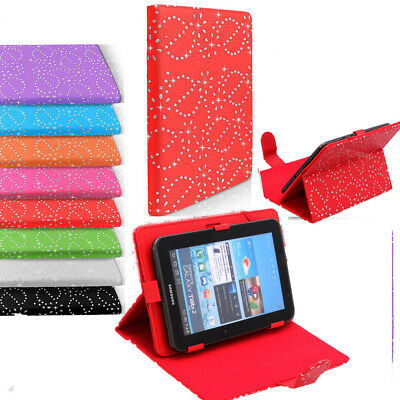 Universal Bling Leather Diamond Stand Book Case Cover  For 7 Inch Tablets • 5.82£