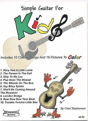Simple Guitar For Kids Instructional Book And Guitar Song Book For Children • 4.27£