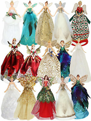 Deluxe Gisela Graham Christmas Tree Top Fairy Peacock Decoration Angel Topper • 16.95£