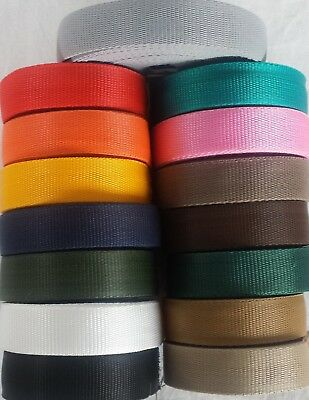 19,25,32,38,50mm PP Polypropylene Webbing Strapping Bags Straps Weave Nylon Tape • 4.63£